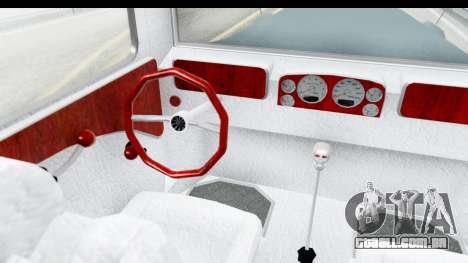 Unique V16 Fordor para GTA San Andreas vista interior