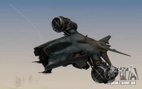 HK Aerial from Terminator Salvation para GTA San Andreas traseira esquerda vista