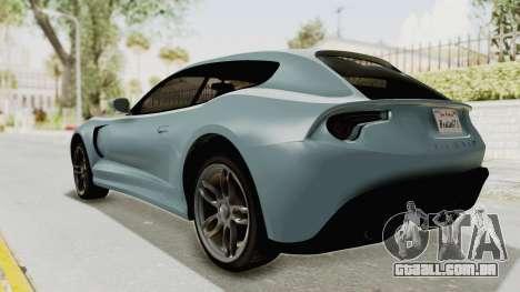 GTA 5 Grotti Bestia GTS v2 SA Lights para GTA San Andreas traseira esquerda vista