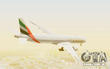 Boeing 777-300ER Emirates para GTA San Andreas vista direita