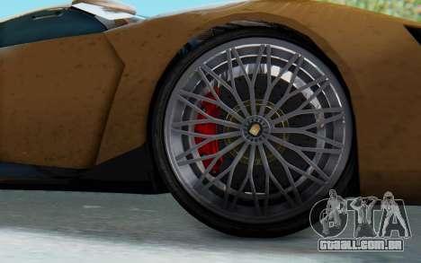 GTA 5 Pegassi Reaper SA Lights para GTA San Andreas traseira esquerda vista