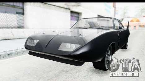 Dodge Charger Daytona F&F para GTA San Andreas vista direita