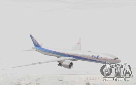 Boeing 777-300ER ANA JA735A para GTA San Andreas traseira esquerda vista