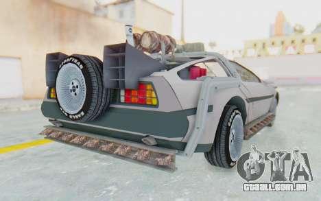 DeLorean DMC-12 2012 End Of The World para GTA San Andreas vista direita