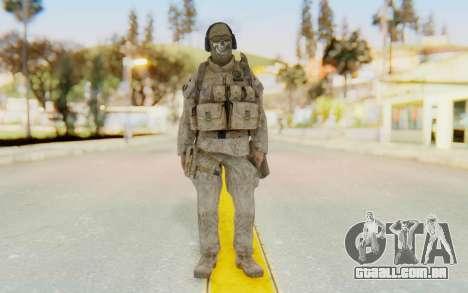 CoD MW2 Ghost Model v2 para GTA San Andreas segunda tela