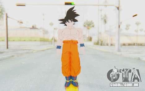 Dragon Ball Xenoverse Goku Shirtless SJ para GTA San Andreas segunda tela