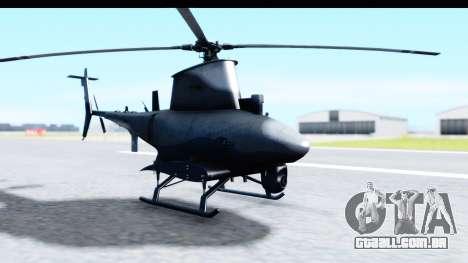 Northrop Grumman MQ-8B Fire Scout para GTA San Andreas traseira esquerda vista