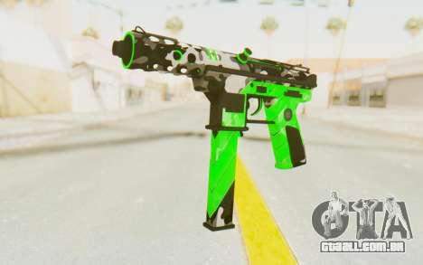 Tec-9 Neural Green para GTA San Andreas