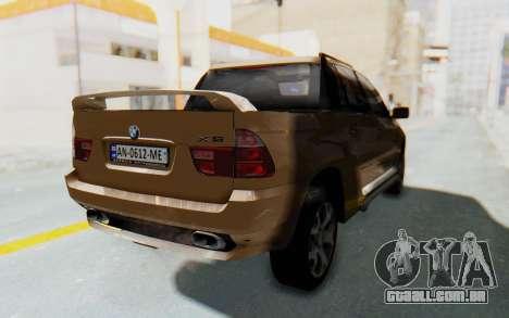 BMW X5 Pickup para GTA San Andreas traseira esquerda vista