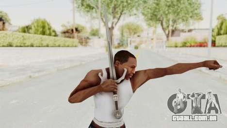 The Witcher 3: Wild Hunt - Sword v2 para GTA San Andreas terceira tela