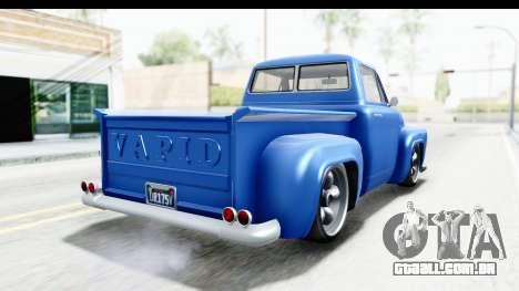 GTA 5 Vapid Slamvan without Hydro IVF para GTA San Andreas esquerda vista
