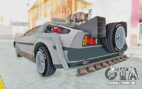 DeLorean DMC-12 2012 End Of The World para GTA San Andreas esquerda vista