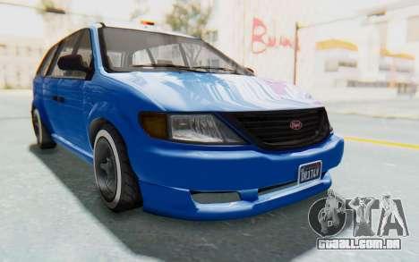 GTA 5 Vapid Minivan Custom para GTA San Andreas vista direita