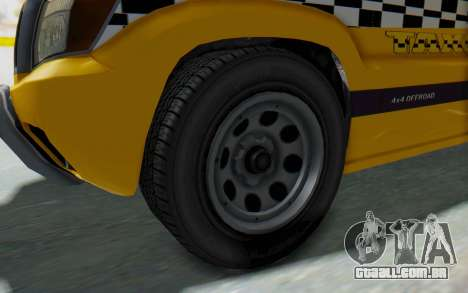 Canis Seminole Taxi para GTA San Andreas vista traseira