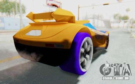 Hot Wheels AcceleRacers 4 para GTA San Andreas traseira esquerda vista