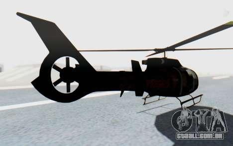 GTA 5 Maibatsu Frogger Trevor IVF para GTA San Andreas esquerda vista