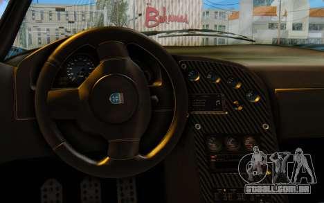 GTA 5 Grotti Cheetah SA Lights para GTA San Andreas vista traseira