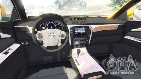 GTA 5 Toyota Camry V50 vista lateral direita