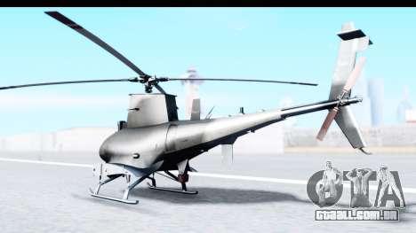 Northrop Grumman MQ-8B Fire Scout para GTA San Andreas esquerda vista