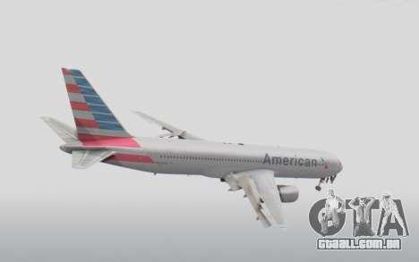 Boeing 767-300ER American Airlines para GTA San Andreas vista direita