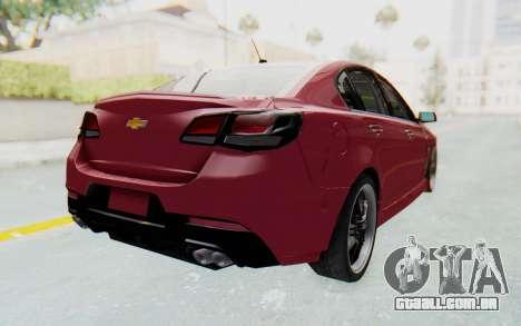 Chevrolet Super Sport 2014 para GTA San Andreas esquerda vista