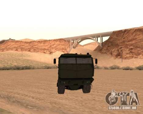 KAMAZ 63968 Tufão para GTA San Andreas vista traseira
