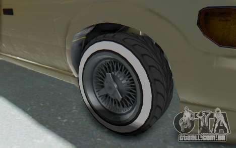 GTA 5 Vapid Minivan Custom without Hydro IVF para GTA San Andreas vista traseira