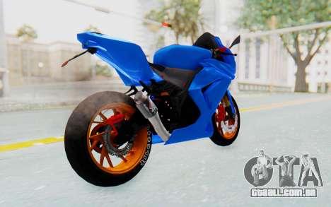 Kawasaki Ninja 250R Streetrace para GTA San Andreas traseira esquerda vista