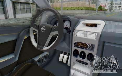 Opel Bertone para GTA San Andreas vista interior