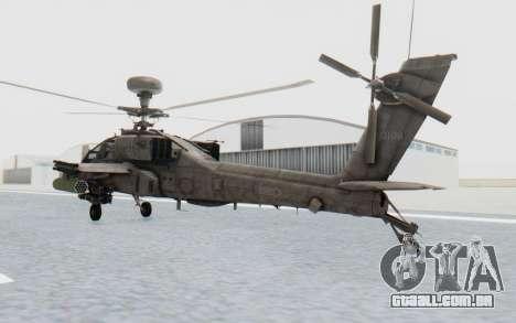 AH-64 Apache Desert para GTA San Andreas esquerda vista