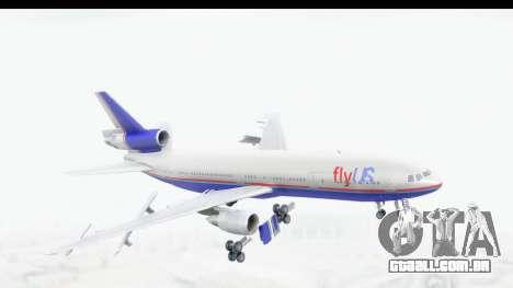 DC-10 Fly Us para GTA San Andreas traseira esquerda vista