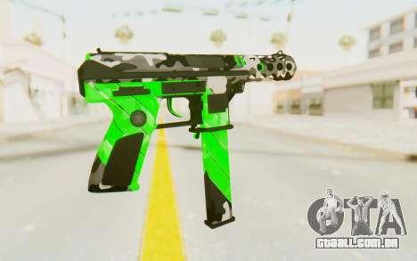 Tec-9 Neural Green para GTA San Andreas segunda tela