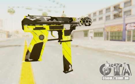 Tec-9 Neural Yellow para GTA San Andreas segunda tela