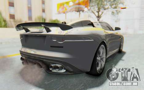 Jaguar F-Type Project 7 para GTA San Andreas esquerda vista