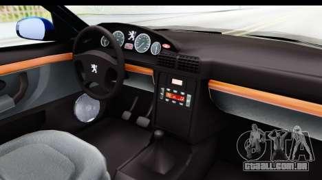 Peugeot 406 Cabrio Beta 0.8.3 para GTA San Andreas vista interior