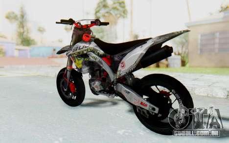 Kawasaki KX125 Supermoto v2 High Modif para GTA San Andreas esquerda vista