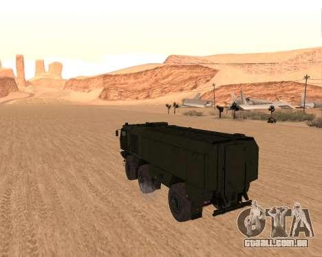 KAMAZ 63968 Tufão para GTA San Andreas traseira esquerda vista