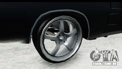 Dodge Charger Daytona F&F para GTA San Andreas vista traseira