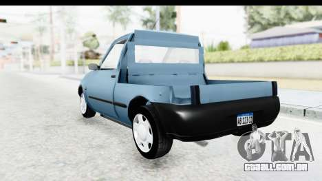 Ford Courier 2016 para GTA San Andreas traseira esquerda vista
