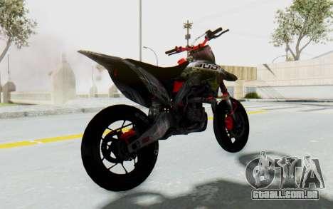 Kawasaki KX125 Supermoto v2 High Modif para GTA San Andreas traseira esquerda vista