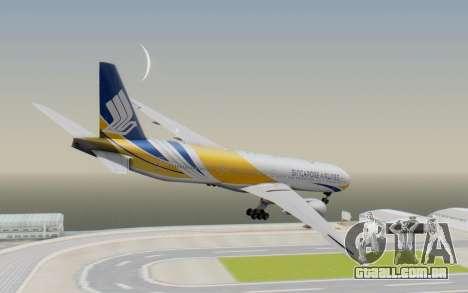 Boeing 777-300ER Singapore Airlines v2 para GTA San Andreas esquerda vista