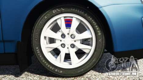 GTA 5 Lada Priora Sport Coupe v0.1 traseira direita vista lateral