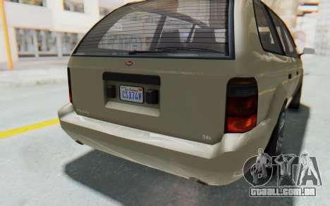 GTA 5 Vapid Minivan IVF para GTA San Andreas vista superior