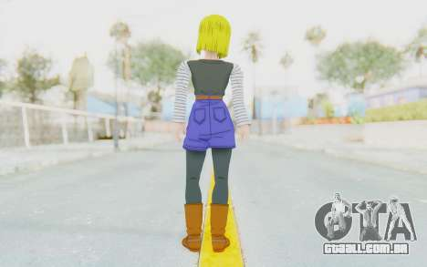 Dragon Ball Xenoverse Android 18 No Jacket para GTA San Andreas terceira tela