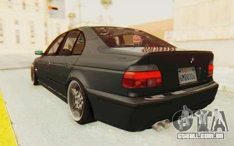 BMW M5 E39 M-Tech USDM para GTA San Andreas esquerda vista