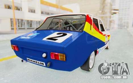 Dacia 1300 Rally para GTA San Andreas esquerda vista