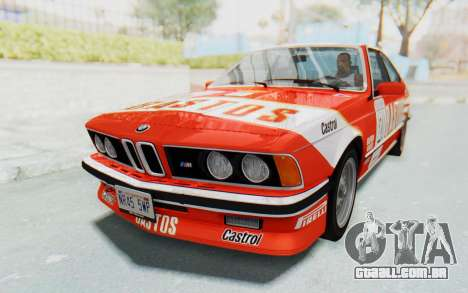 BMW M635 CSi (E24) 1984 IVF PJ3 para o motor de GTA San Andreas