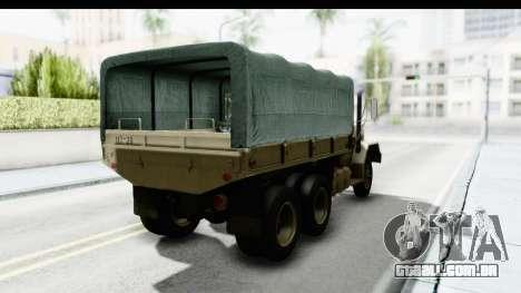 AM General M35A2 Sand para GTA San Andreas traseira esquerda vista