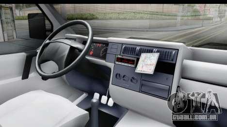 Volkswagen T4 para GTA San Andreas vista interior