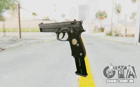 Tariq Iraqi Pistol Back v1 Silver Long Ammo para GTA San Andreas segunda tela